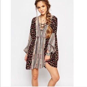 FREE PEOPLE | Rain or Shine Boho Mini Dress